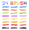 brushes varied colors vector image vector image