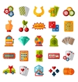 Casino icons set isolated vector image vector image