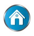 circular border button silhouette simple facade vector image vector image