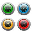 Clock icon on square button vector image