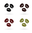 coffee beans icon in colorful on white vector image vector image