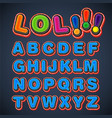 comic font set vector image vector image