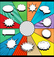 comic white speech bubbles collection vector image vector image