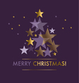 Concept star abstract Violet purple color vector image vector image