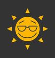 cool sun smile glyph color icon vector image