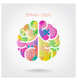 Creative jigsaw left and right brain vector image vector image