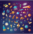 cute cartoon space explorer astronomy science and vector image