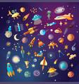 cute cartoon space explorer astronomy science vector image