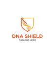 dna shield health logo design inspiration vector image vector image