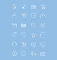 ecommerce-line-icons vector image vector image