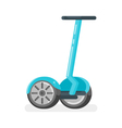 flat style of two-wheeled battery-powered electric vector image vector image