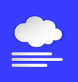 fog weather forecast info icon foggy day vector image