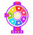 fortune wheel with pointer casino gambling icon vector image vector image