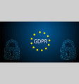 gdpr concept general data protection vector image vector image