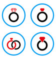 gem ring rounded icons vector image vector image