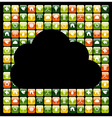 Global phone apps cloud vector image vector image