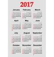 Great new wall calendar 2017 vector image vector image