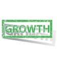 Green outlined GROWTH stamp vector image