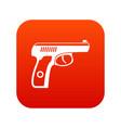 gun icon digital red vector image vector image
