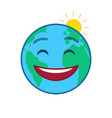 happy world globe isolated emoticon vector image vector image