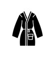 home bathrobe black icon sign on isolated vector image vector image