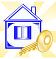 House and gold key vector image