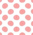 Human brain seamless pattern vector image vector image
