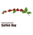 international coffee day concept vector image