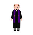 isolated male priest icon vector image