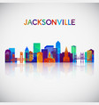 jacksonville skyline silhouette in colorful vector image vector image