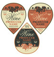 label for wine with grapes in retro vector image