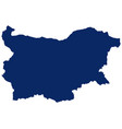 map bulgaria in blue colour vector image vector image
