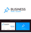 marker pin blue business logo and business card vector image