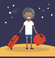 mars colonization young black character moving to vector image vector image