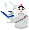 matryoshka dentist vector image vector image