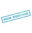 Now Renting Rubber Stamp vector image vector image