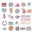 office and bussines icons four colors vector image vector image