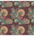 ornate seamless flower paisley design background vector image vector image