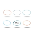 Ovals set vector image vector image