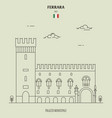 palazzo municipale in ferrara italy vector image vector image
