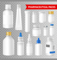 pharmaceutical packaging realistic vector image vector image