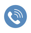 phone icon handset with waves as phone call sign vector image