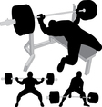 Powerlifting bench press squat deadlift vector image