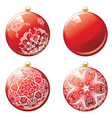 Red Xmas Ball Design vector image vector image