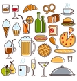 Restaurant Icons set vector image