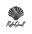 retro shell logo icon design template vector image vector image