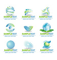 set eco design elements vector image vector image