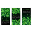 set of banners with shamrocks vector image