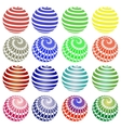 Set of Colorful Round Symbols vector image vector image