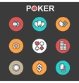 set of flat casino icons vector image vector image